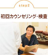 2.初回カウンセリング・検査